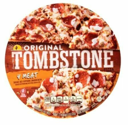 Frozen Pizza, Tombstone® 4 Meat Pizza (21.1 oz Box)