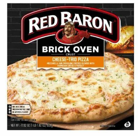 Frozen Pizza, Red Baron® Brick Oven 3 Cheese Pizza (17.89 oz Box)