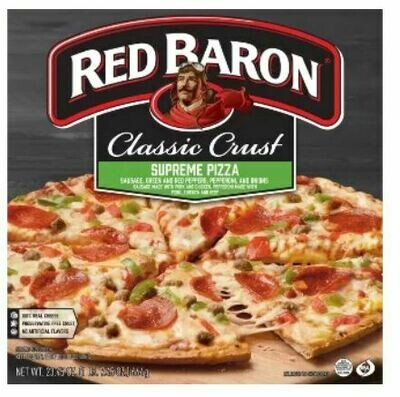 Frozen Pizza, Red Baron® Classic Crust Supreme Pizza (23.45 oz Box)