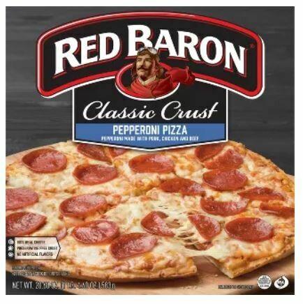 Frozen Pizza, Red Baron® Classic Crust Pepperoni Pizza (20.6 oz Box)