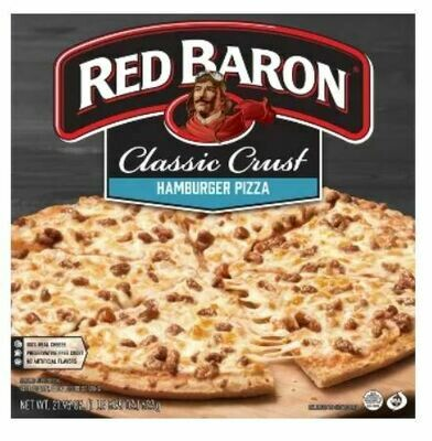 Frozen Pizza, Red Baron® Classic Crust Hamburger Pizza (21.95 oz Box)