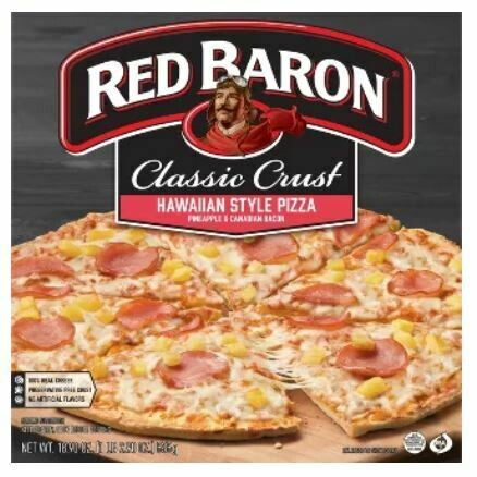 Frozen Pizza, Red Baron® Classic Crust Hawaiian Style Pizza (18.9 oz Box)