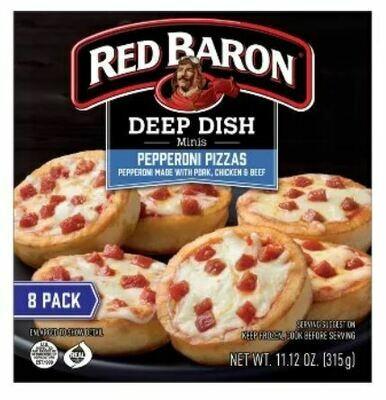 Frozen Pizza, Red Baron® Deep Dish Mini Pizzas (17.89 oz Box, 8 Pizzas)