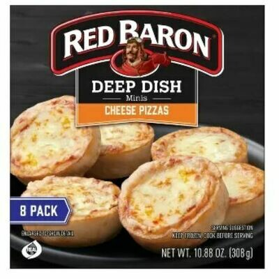 Frozen Pizza, Red Baron® Deep Dish Mini Cheese Pizzas (10.88 oz Box, 8 Pizzas)