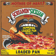 Frozen Pizza, Screamin' Sicilian® Loaded Pan, Mother of Meat® Pizza (23.21 oz Box)