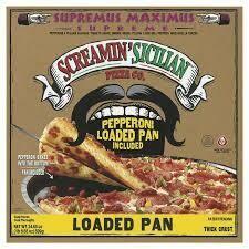 Frozen Pizza, Screamin' Sicilian® Loaded Pan, Supremus Maximus® Pizza (24.65 oz Box)