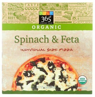 Frozen Pizza, 365® Small Spinach & Feta Pizza (6 oz Box)