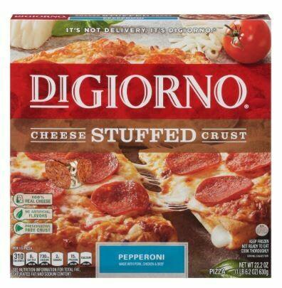 Frozen Pizza, Digiorno® Cheese Stuffed Crust, Pepperoni Pizza (22.2 oz Box)