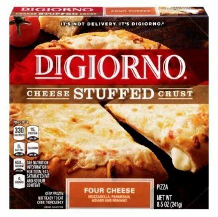 Frozen Pizza, Digiorno® Small Cheese Stuffed Crust, 4 Cheese Pizza (8.5 oz Box)