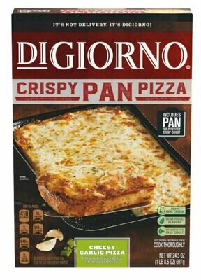 Frozen Pizza, Digiorno® Crispy Pan, Cheesy Garlic Pizza (24.5 oz Box)