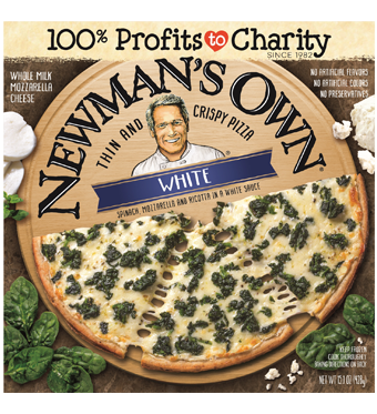 Frozen Pizza, Newman's Own® Thin Crust, White with Spinach Pizza (15.1 oz. Box)