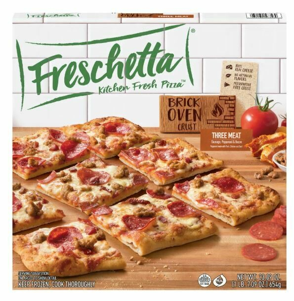 Frozen Pizza, Freschetta® Brick Oven® Three Meat Pizza (23.09 oz Box)