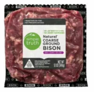 Bison, Simple Truth™ Natural Coarse Ground Bison 85% Lean (12 oz Bag)