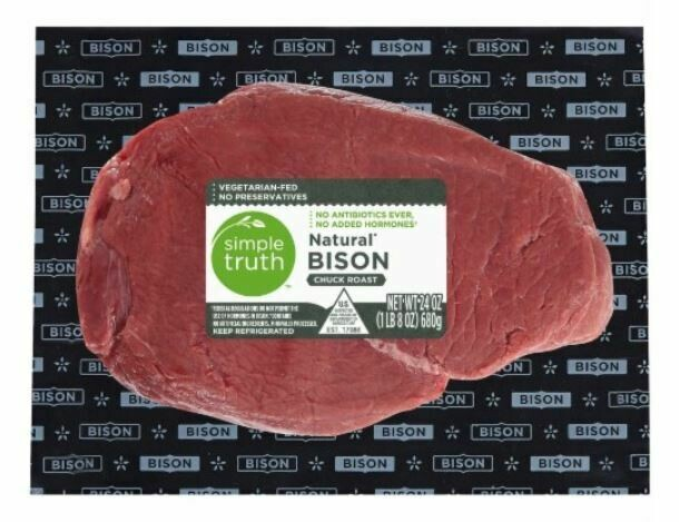 Bison, Simple Truth™ Natural Bison Chuck Roast (24 oz Package)
