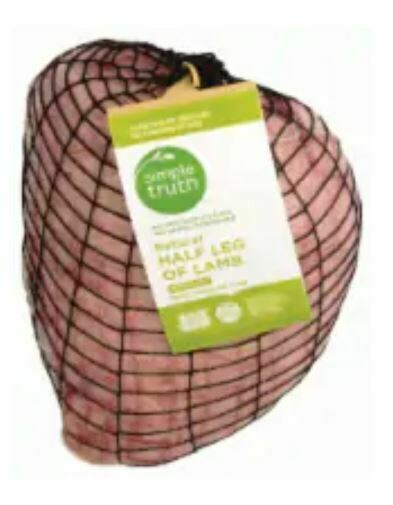 Lamb, Simple Truth™ Natural Half Leg of Lamb (16 oz Bag)