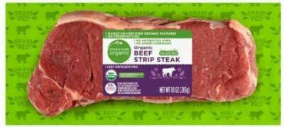 Beef, Simple Truth Organic ™ Grass Fed Beef Strip Steak (10 oz Package)