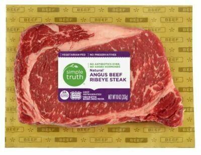 Beef, Simple Truth Organic™ Natural Angus Beef Ribeye Steak (10 oz Package)