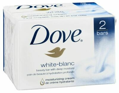 Soap, Dove® White Deep Moisture Beauty Soap (2 count, 4 oz Bar)