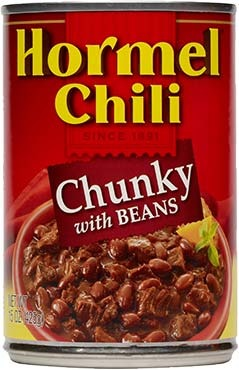 Canned Chili, Hormel® Chunky Chili with Beans 15 oz Can
