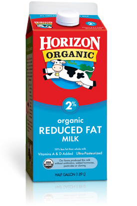 Dairy Milk, Horizon® Organic 2% Reduced Fat Milk (½ Gallon Carton)