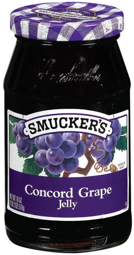 Fruit Spread, Smucker's® Concord Grape Jelly (18 oz Jar)