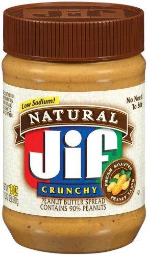 Peanut Butter, Jif® Natural Crunchy Peanut Butter (16 oz Jar)