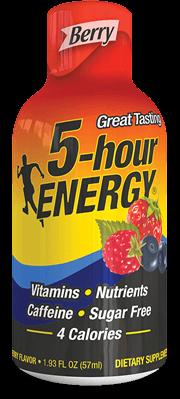 Energy Drink, 5 Hour Energy® Berry, 1.93 oz (2 Bottles)
