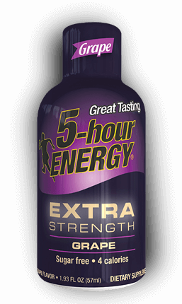 Energy Drink, 5 Hour Energy® Extra Strength Grape, 1.93 oz (2 Bottles)