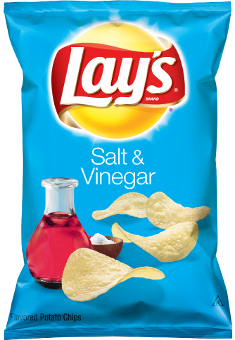 Potato Chips, Lay's® Salt & Vinegar Potato Chips (7.75 oz Bag)