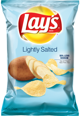 Potato Chips, Lay's® Lightly Salted Potato Chips (7.75 oz Bag)