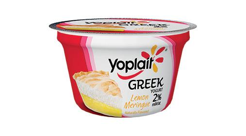 Yogurt, General Mills® Yoplait® Greek 2% Yogurt, Lemon Meringue