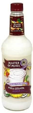 Drink Mixer, Master Of Mixes® Piña Colada Mix (1 Liter Bottle - 33.8 oz)