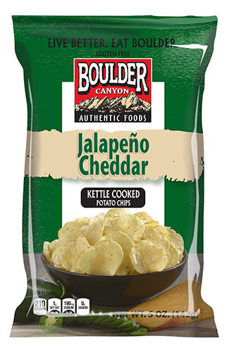 "Potato Chips, Boulder Canyon™ ""Regular Size"" Jalapeño Cheddar Potato Chips (6.5 oz Bag)"