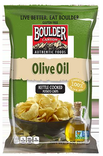 "Potato Chips, Boulder Canyon™ ""Regular Size"" Olive Oil Potato Chips (6.5 oz Bag)"
