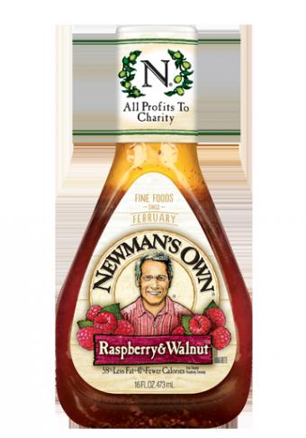 Salad Dressing, Newman's Own® Lite Raspberry and Walnut Vinaigrette Salad Dressing (16 oz Bottle)