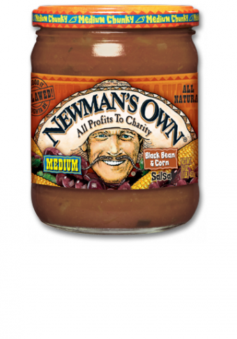 Salsa, Newman's Own® Medium Chunky Black Bean & Corn Salsa (16 oz Jar)