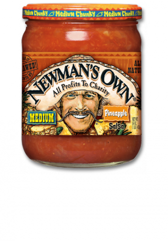 Salsa, Newman's Own® Medium Chunky Pineapple Salsa (16 oz Jar)