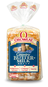 Loaf Bread, Oroweat® Country Buttermilk® Bread (24 oz Bag)