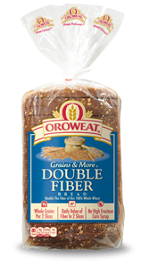 Loaf Bread, Oroweat® Double Fiber® Bread (24 oz Bag)