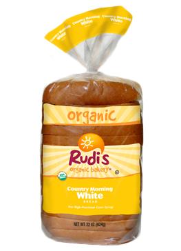 Loaf Bread, Rudi's® Country Morning White Bread (22 oz Bag)