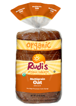 Loaf Bread, Rudi's® Multigrain Oat Bread (22 oz Bag)