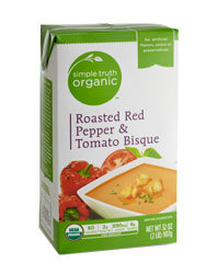 Boxed Organic Soup, Simple Truth Organic™ Roasted Red Pepper & Tomato Bisque (17.6 oz Box)