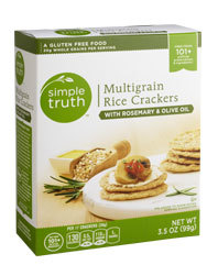 Crackers, Simple Truth™ Multigrain Rice Crackers with Rosemary & Olive Oil (3.5 oz Box)
