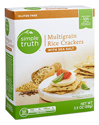 Crackers, Simple Truth™ Multigrain Rice Crackers with Sea Salt (3.5 oz Box)