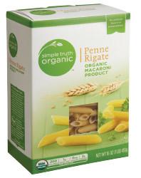 Pasta, Simple Truth Organic™ Penne Rigate Macaroni, 6 oz Box
