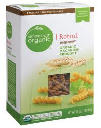 Pasta, Simple Truth Organic™ Whole Wheat Rotini Macaroni, 6 oz Box