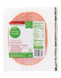Deli Meat, Simple Truth™ Sliced Uncured Smoked Ham (7 oz Bag)