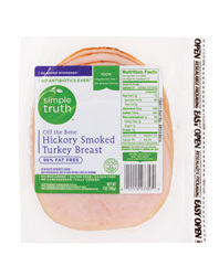 Deli Meat, Simple Truth™ Sliced Hickory Smoked Turkey Breast (7 oz Bag)
