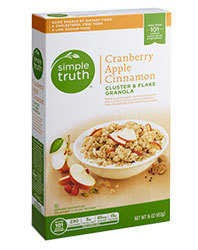 Cereal, Simple Truth™ Cranberry Apple Cinnamon Granola (16 oz Box)