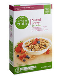 Granola Cereal, Simple Truth™ Mixed Berry Granola (17 oz Box)
